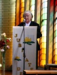 Sister Patricia Quigley delivers the homily