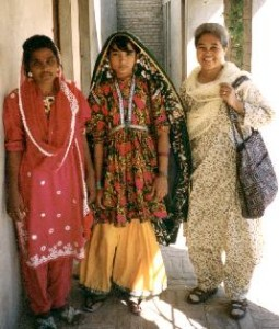 Sister Divina Lua with some friends in Pakistan.