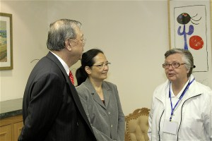 ...and Mr John Lee Hon Ying (Diocesan Commission for HPC) and Ms Fung a former Commission member