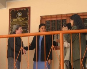 After the unveiling of the memorial plaque