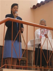 Sister Anne Carbon extends a welcome to all gathered for the blessing