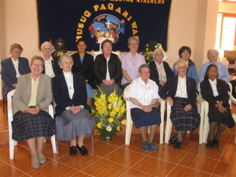 ...and the Columban Sisters working in Peru and Chile gather for a photo too!
