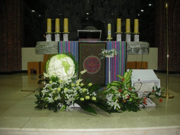 The altar prepared for the Final Profession Mass & Ceremony which began with the Entrance Procession