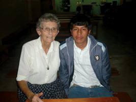 Sr Eileen and Her friend, Frank