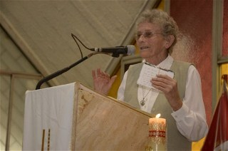 Sister Eileen Rabbitte delivers the homily