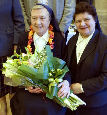 Sister Philomena with Sister Nora Wiseman.