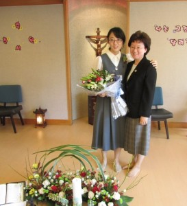 Paulina with Sister Angela Suh, her Novice Directress.