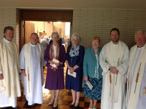 Concelebrants and Jubilarians after the Mass
