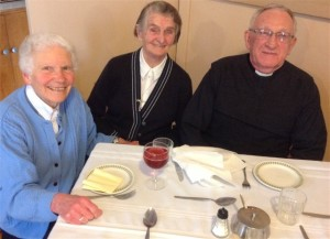 Sisters Mary Nugent, Brid Kenny and Fr Pat Donohoe (Chaplain, Magheramore)
