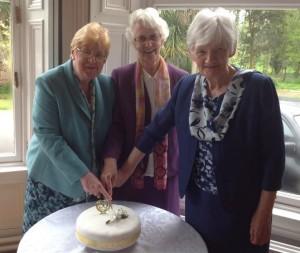 Three together cut the Jubilee cake